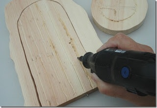 How to make yule fairy doors kiddiecrafty pinterest for Fairy door pattern