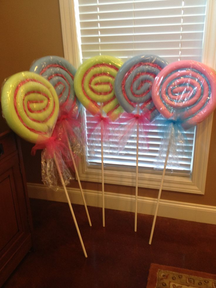 ... VBS, then reused for a candy themed baby shower. Made with pool