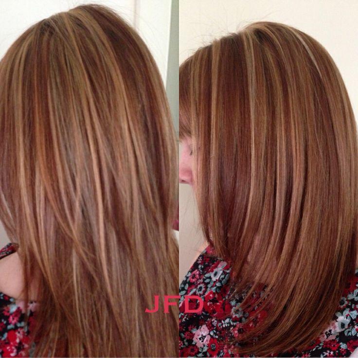 Full head of Blonde and brown highlights | Hair, Makeup & Nails | Pin ...