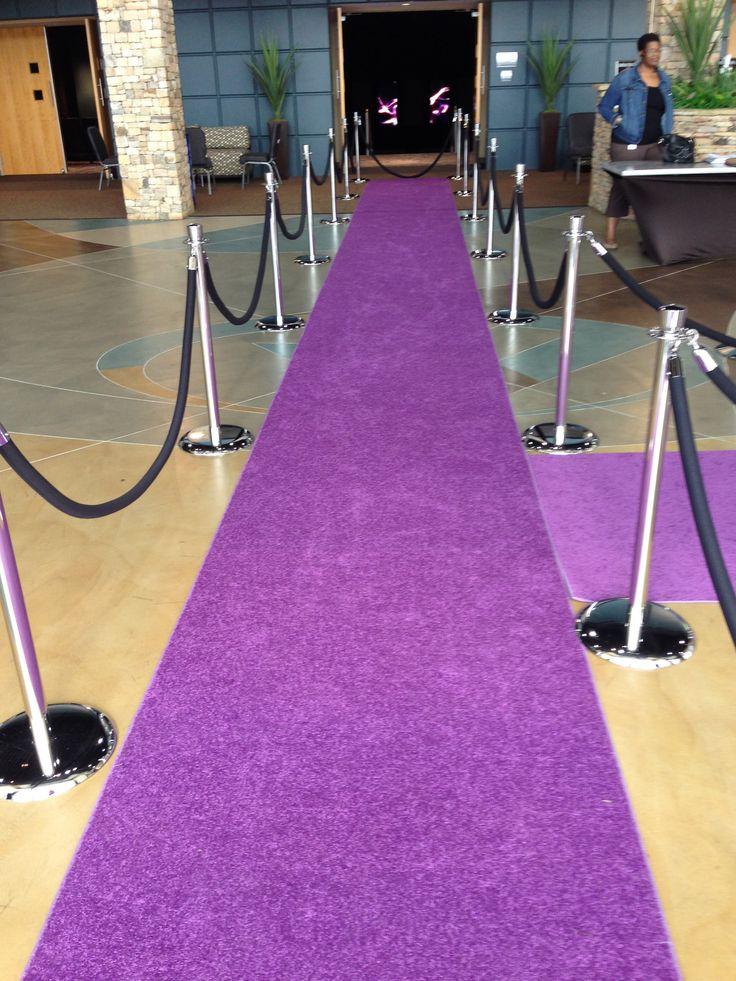 Purple runway carpet