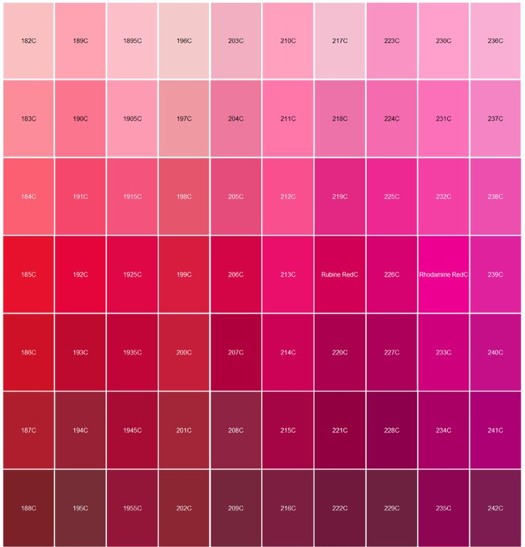 Logo pantone color matching red and pink paintings and - Pink match with what color ...