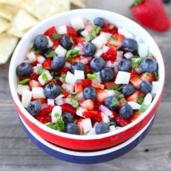 Blueberry, Strawberry and Jicama Salsa | yummy | Pinterest