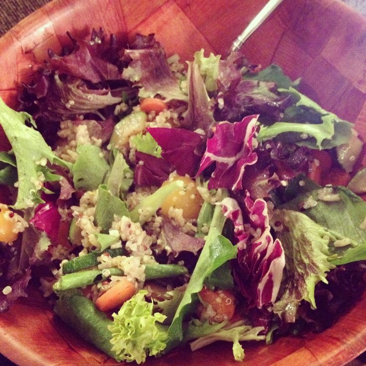 and all the flavor mixed greens rosemary and olive oil quinoa sautéed ...