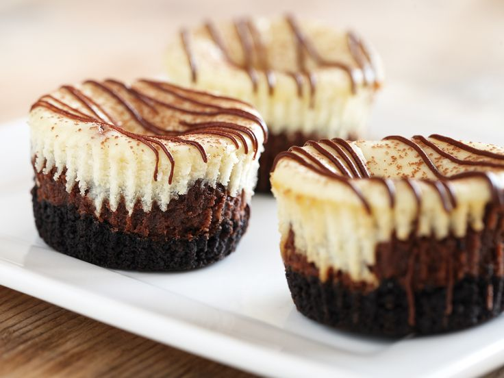 Mini Chocolate Cappuccino Hazelnut Cheesecakes Recipe : Food Network ...