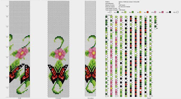 Схемы для вязания бисером крючком 85
