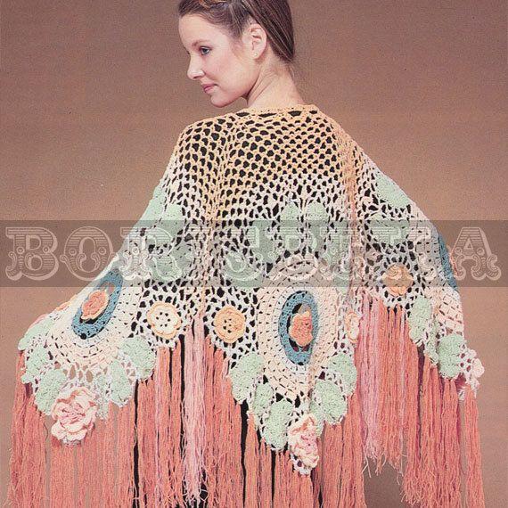 vintage SHAWL crochet pattern (70s) (PDF)