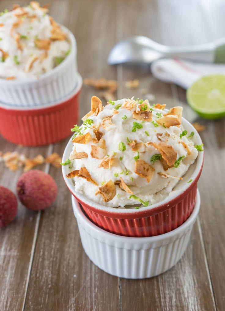 ... coconut milk ice cream infused with fresh lychees, ginger, and lime