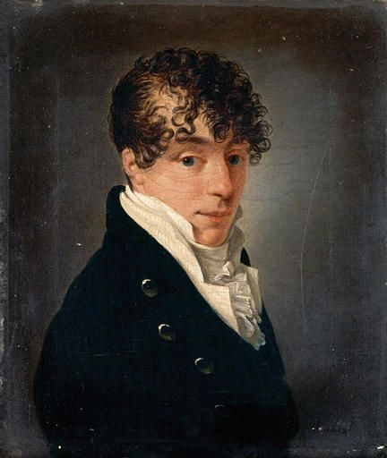 Jean-François Sablet, Portrait of a young man (who was apparently determined to cover his receding hairline.)