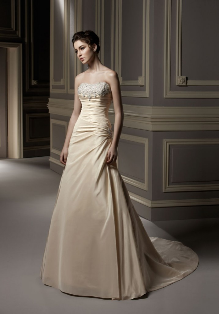 Cream colored wedding dresses wedding dresses in jax for Second wedding dresses not white