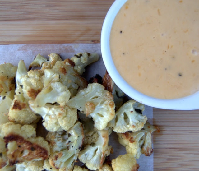 Roasted Cauliflower with Gruyere Cheddar Cheese Sauce from 365 Days of ...