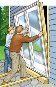 How To Replace An Old Patio Door For The Home Pinterest