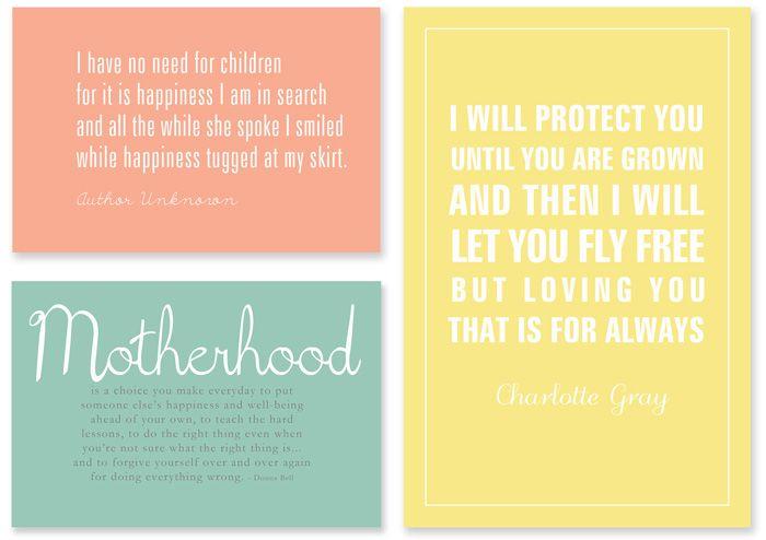 DIY - Free Printables - Motherhood quotes
