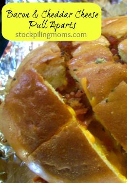 Bacon and Cheddar Cheese Pull Aparts Recipe—take this to your next ...