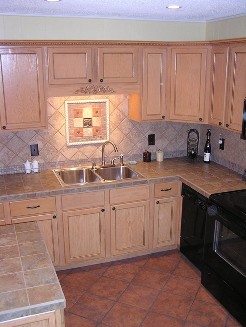 total kitchen makeover under terra cotta