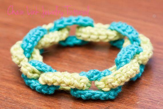 Crochet Jewelry Tutorial, Crochet Bracelet Pattern, Crochet Necklace ...