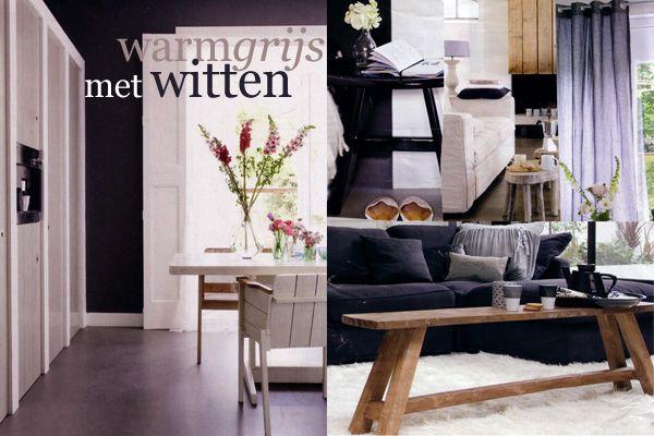 Woonkamer Rood Grijs : Grijs, wit en hout. For the Home Pinterest