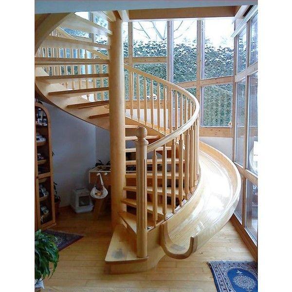amazing spiral staircase slide for the home pinterest. Black Bedroom Furniture Sets. Home Design Ideas