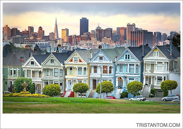 Painted Ladies Houses San Francisco I Left My Heart