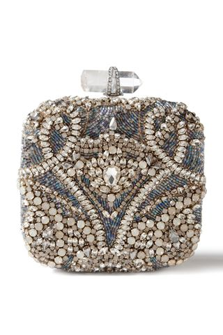 Love the intricate beading on this delicate Marchesa clutch