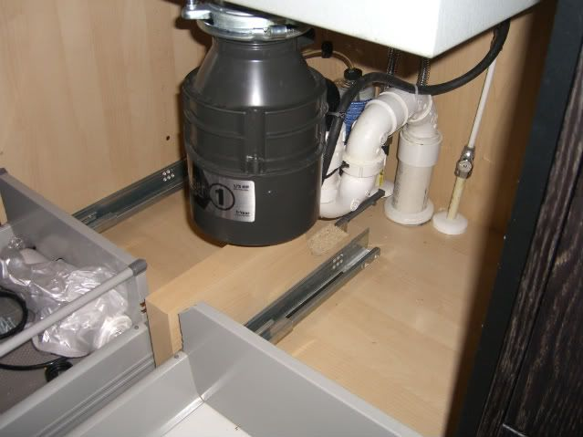 Trash pullout under sink ikea cabs kitchen ideas pinterest - Ikea cabinet trash pull out ...