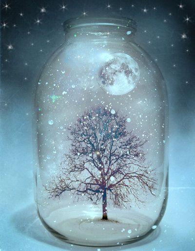 *Moon in a jar... beautifully eerie