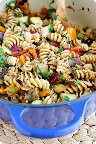 Grilled Ratatouille Pasta, perfect for the summer; Used some different ...
