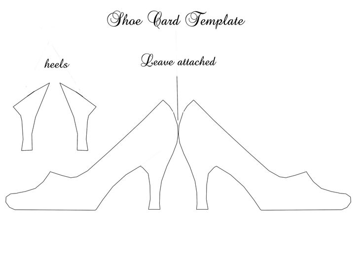 Printable Shoe Template   ... shoe templates download by ellen hutson ...