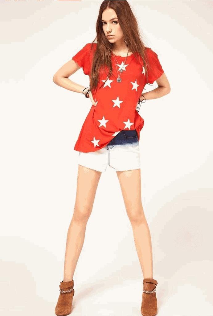 starshine T-shirt,womens fashion clothing/wholesale/ free shipping