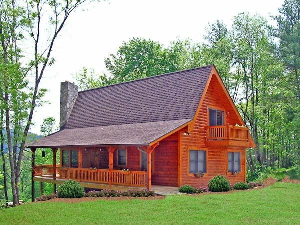 Cabin country log house plan 79505 Country log home