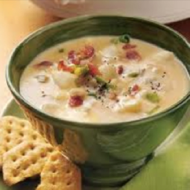 Cheesy potato soup. | yummy food | Pinterest
