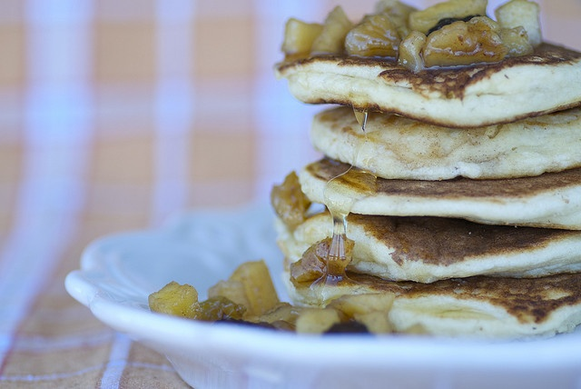 Ricotta Hotcakes with Warmed Spiced Apples and Maple | Gluttony ...