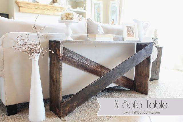 Easy diy sofa table | furniture | Pinterest