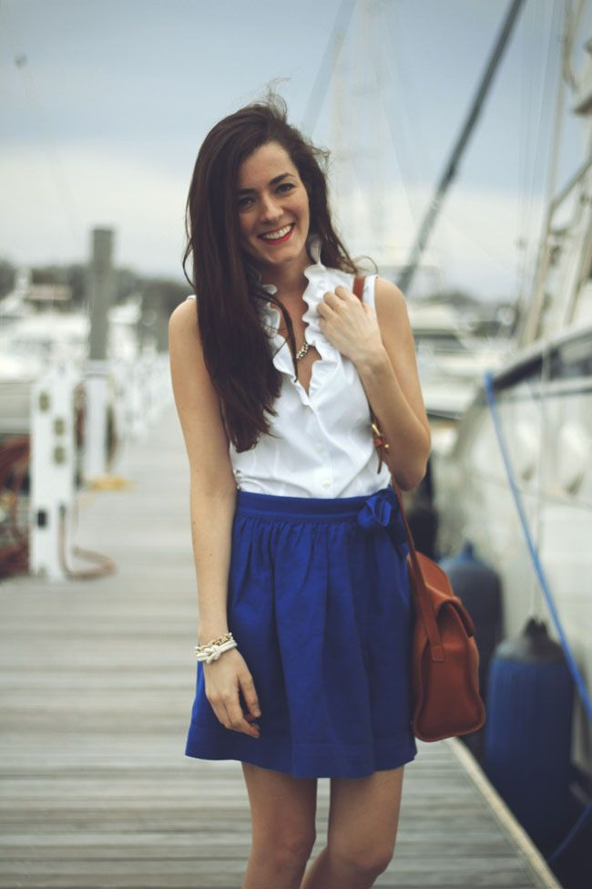 I love the blue skirt!