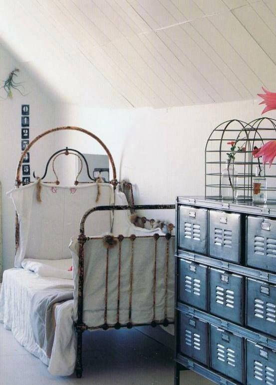 industrial bedroom with locker industrial furniture pinterest