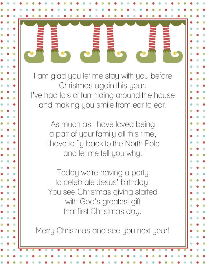 Letter from the Elf on a Shelf | HOLIDAYS: Christmas | Pinterest