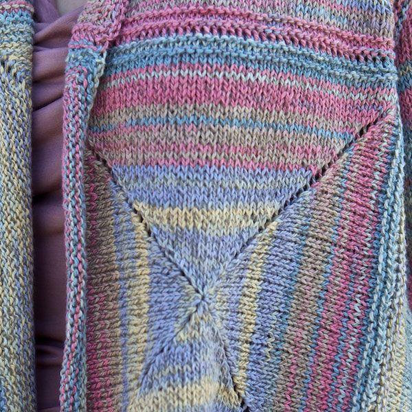 Crochet Scarf Pattern With Self Striping Yarn : Modular pattern in self-striping yarn Crochet Pinterest