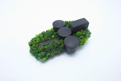 Yuki Sumiya:  oxidized silver, sponge