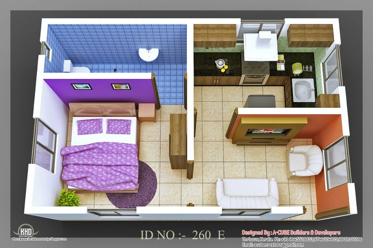 Beach pad 6 3d house plans floor plans pinterest - Modernbedroombathroom house plans ...