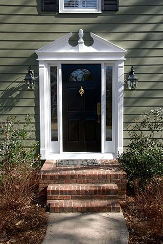 Pediment style new home exterior pinterest for Exterior window pediments