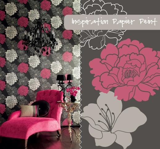 Dégradé de gris et rose  Déco  Matière  Papier peint