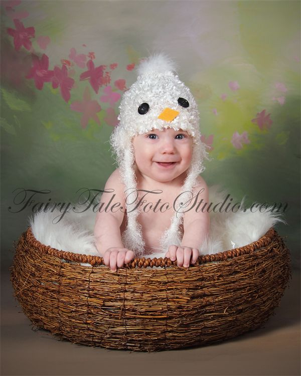 5 Month Old Baby Boy Baby White Bird in a Nest Springtime | Blue Bird Hat Spring Time Easter | Portrait Poses | Photo Idea | Photography | Cute Kid Pic ...  sc 1 st  Just Kids Photography & Just Kids Photography: White Baby Bird in a Springtime Nest - 5 ...