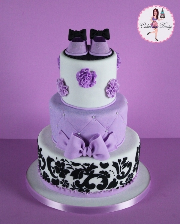 Love This Color Combination For A Baby Shower....very. Purple Cakes
