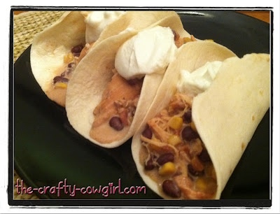 chicken tacos   Slowcooker/Crockpot   Pinterest