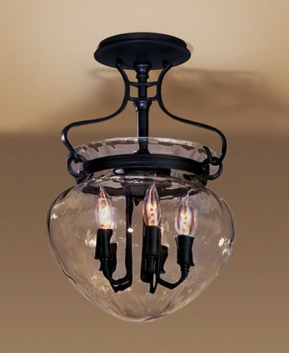 Black Candle Ceiling Lights : Semi flush mts candle decor ideas