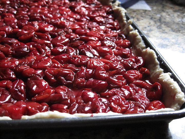 sour cherry slab pie | Pies & Tarts | Pinterest