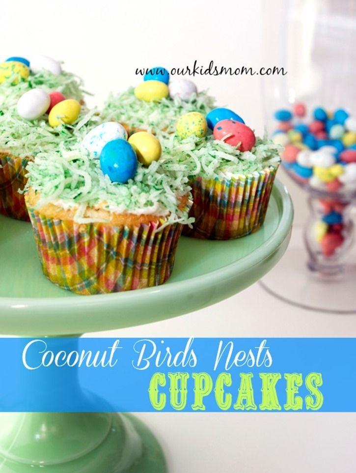 Homemade Coconut Birds Nest Cupcakes | Recipe