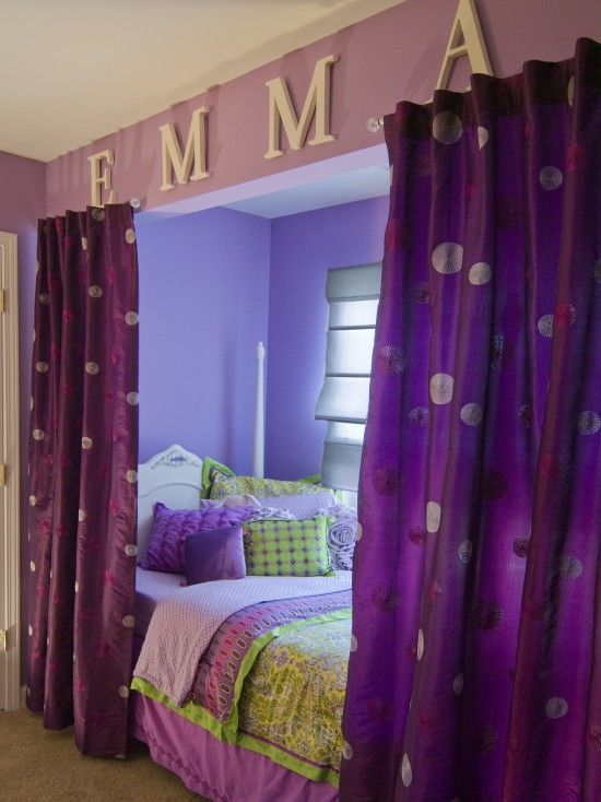 Curtains for beds pictures
