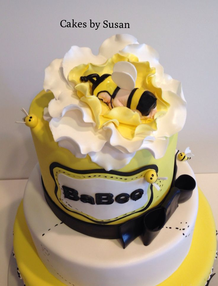 bumble bee baby shower cake catey baby pinterest