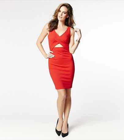 Dress to thrill! This dress features a cutout on the front and super sexy v-neck cut. It's perfect for the Holidays!