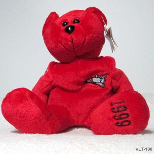 Senator bear collecticritters teddy bear red white blue plush beanb